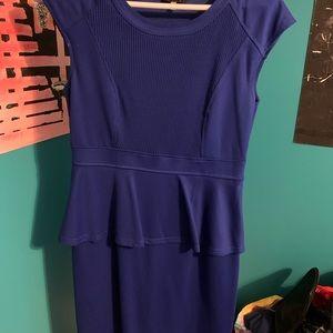 Beautiful royal blue, Spence peplum dress. Size 6